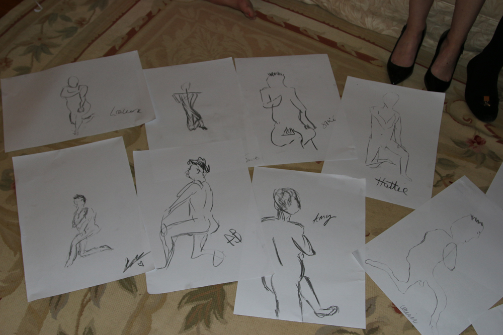 Hen Life Drawings