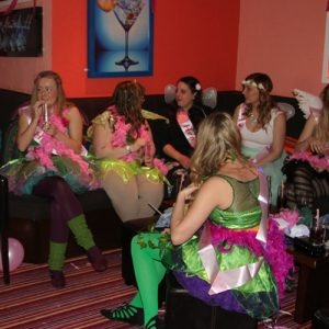 colourful hen party theme