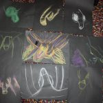 penis drawings with chalk