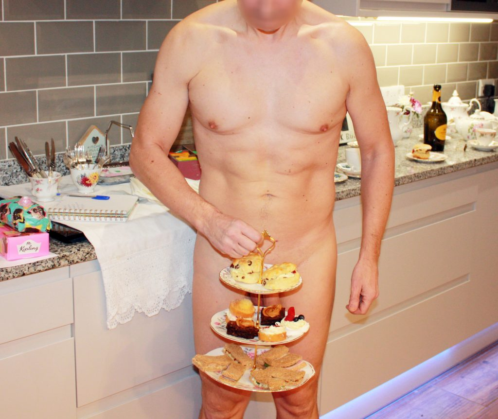 Afternoon tea nude man
