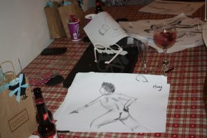 cool hen do sketch