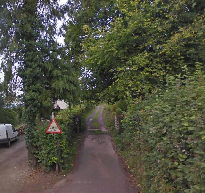 uneven narrow steep road