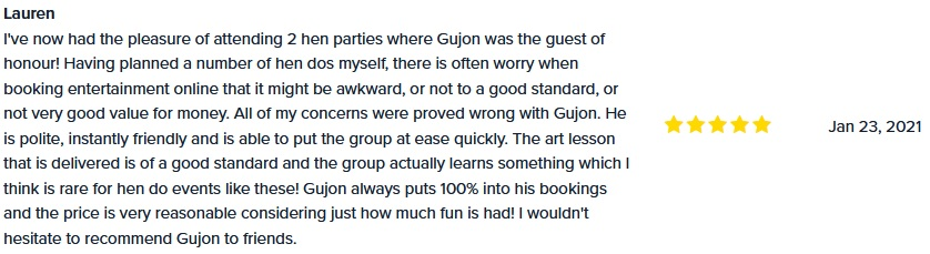 hen party review