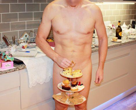 Afternoon tea nude man